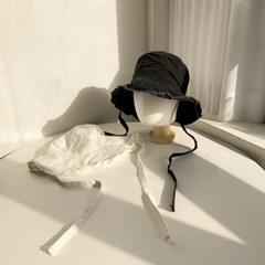 올풀림 턱끈 벙거지 모자 2color