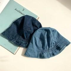 데님 뒷주름 벙거지 모자 2color