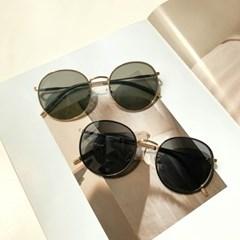 메탈 라운드 UV400 선글라스