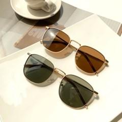 스퀘어 골드라인 UV400 선글라스 2color