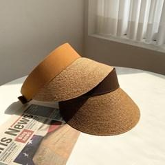 라탄 숏챙 썬캡 모자 3color