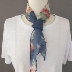플라워 삼각 명품 삼각 쁘띠 할머니 패션 스카프