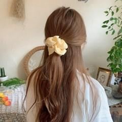 [3개세트][3color] 노랑 체크 헤어슈슈 곱창 머리끈 세트