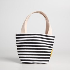 나노 에코백 -YS2104SB /STRIPE BLACK