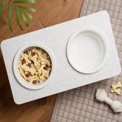 강아지 고양이 밥그릇 강아지식기 물그릇 애견식기 대리석식탁