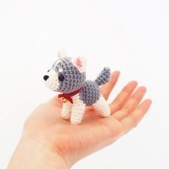 (손뜨개 DIY 키트/튜토리얼 영상 포함) 코바늘 강아지 인형