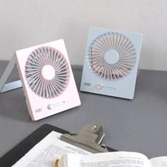 델키 폴딩 네모팬 무선 미니 선풍기 탁상용/벽걸이 겸용 DKB-101