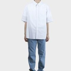 여름 남성 스트라이프 단가라 세미 오버핏 박스 반팔 셔츠 남방
