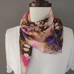 인견 플라워 삼각 페미닌 에스닉 명품 패션 스카프