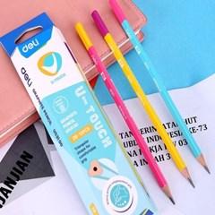 DELI 델리 비비드 삼각 학생용 연필 12자루 1타스