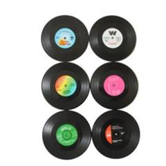 LP 빈티지 레트로 컵받침 (6개입/세트)