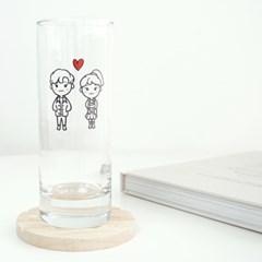 예쁜 썸남썸녀 유리컵 1+1