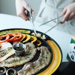 [리본제이]슈퍼사이즈! 디자이너가 만든 계란치즈 고기불판(41cm)