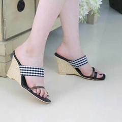 kami et muse Clear strap wedge heel slippers_KM20s205