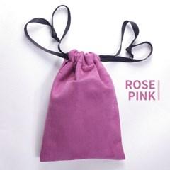 고급 스웨이드 타로카드 주머니 - 로즈 핑크 Rose Pink