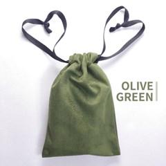 고급 스웨이드 타로카드 주머니 - 올리브 그린 Olive Green