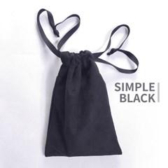 고급 스웨이드 타로카드 주머니 - 블랙 Black