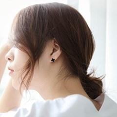 제이로렌 M03401 로즈골드 자개 오닉스 귀걸이_(1057141)