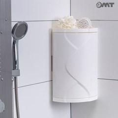 OMT 벽걸이 흡착식 360도회전 욕실 주방 코너 수납장 소형/대형
