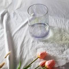 오로라 홀로그램 유리 꽃병