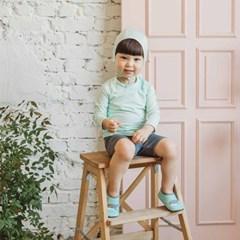 [UPF50+] 쿵스쿵스 민트리래쉬가드세트 유아수영복 유아래쉬가드