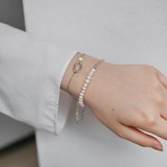 pearl line bracelet (실버컬러)