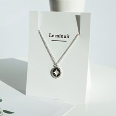 Lucky star compass necklace [92.5 silver]