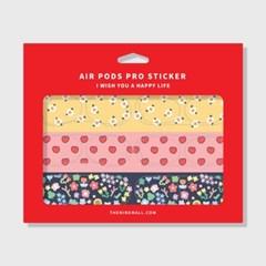 패턴 spring 에어팟 프로 철가루 방지스티커