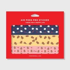패턴 cherry 에어팟 프로 철가루 방지스티커