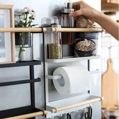 냉장고 자석 수납선반 주방선반 키친타올걸이 2color
