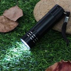 고휘도 휴대용 LED 후레쉬(블랙) / 포켓 손전등