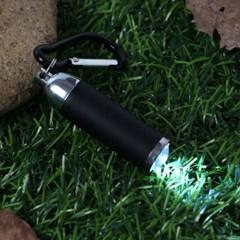 카라비너 LED 후레쉬(블랙)/ 휴대용 미니손전등