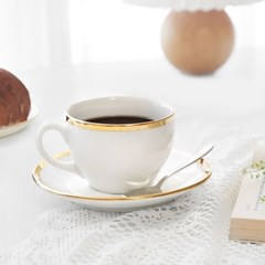 아이린 골드림 커피잔 300ml 1인조세트