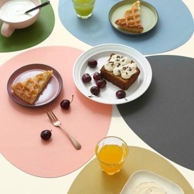 르리에 실리콘 식탁 테이블매트(오벌) 7colors_(1952383)
