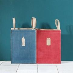 쥬트 컬러 분리수거함 가정용 재활용 쓰레기통 휴지통