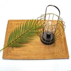 홈카페 라탄 직사각 테이블 매트