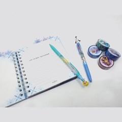 디즈니 겨울왕국 3색 볼펜&마스킹테이프 세트