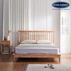 뉴저지 고무나무 원목 침대(NEW E호텔 양모 7존 독립스프링 매트-Q)