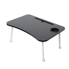 테블릿 컵홀더 네다리 좌식 테이블(블랙)