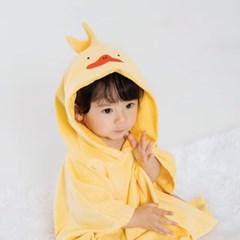 [쿵스쿵스] 오리 양면목욕후드타월 유아비치가운 아기목욕가운