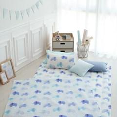 [단품 - 패드] 엘레팡트(블루) - 면 리플 여름용 낮잠이불