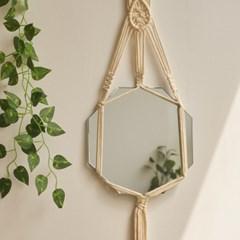 핸드메이드 마크라메 거울