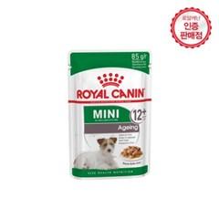 [로얄캐닌] 강아지사료 미니 에이징 파우치 85g 12P