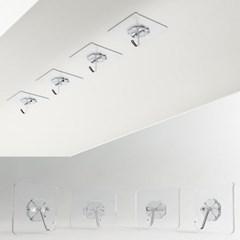 벽걸이후크 욕실걸이 다용도걸이 접착식 후크걸이 40개 1set