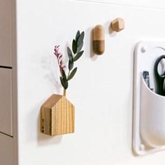 원목 집모양 냉장고 자석