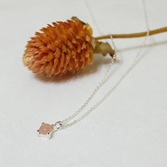 Summer palette  necklace - Peach moonstone