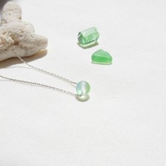Summer moonlight necklace - Green grass