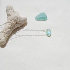 Summer moonlight necklace - Sea blue
