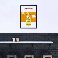 말리부 레모네이드 M 유니크 인테리어 디자인 포스터 카페