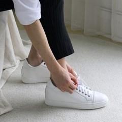 여름 화이트 흰색 검정 유광 가죽 키높이 운동화 스니커즈